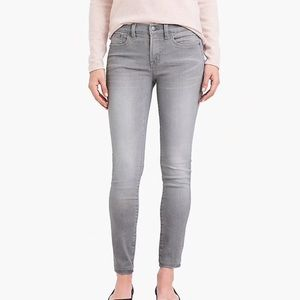 J crew gray valley wash skinny ankle jeans r